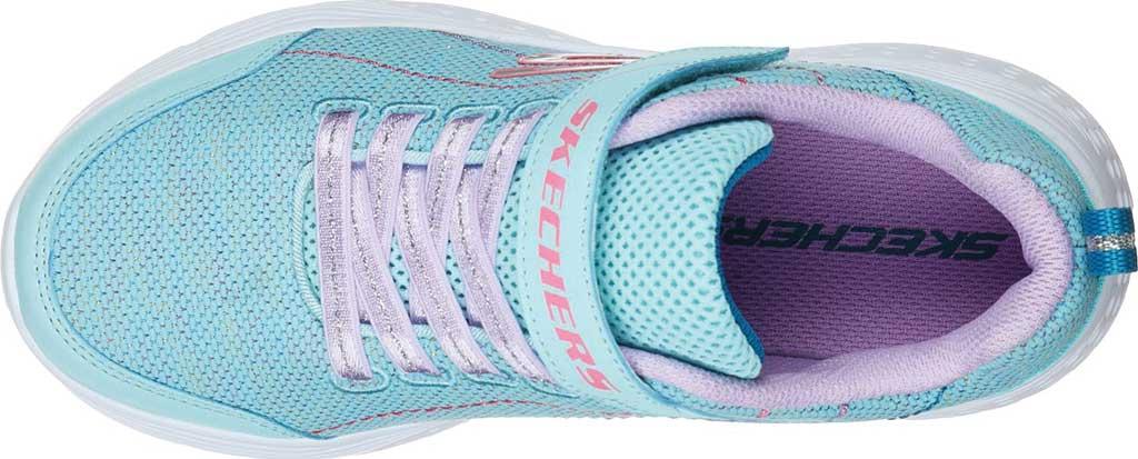 Girls' Skechers Snap Sprints Electric Dash Sneaker, Aqua/Purple, large, image 4