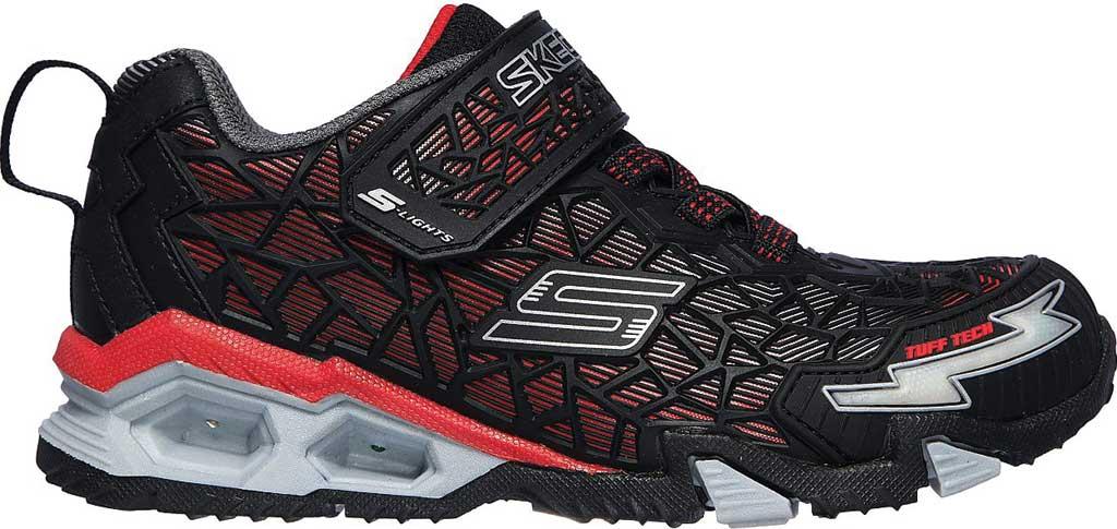Boys' Skechers S Lights Hydro Lights Tuff Force Sneaker, Black/Red, large, image 2