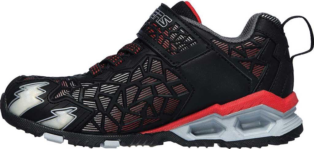 Boys' Skechers S Lights Hydro Lights Tuff Force Sneaker, Black/Red, large, image 3