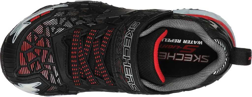 Boys' Skechers S Lights Hydro Lights Tuff Force Sneaker, Black/Red, large, image 4
