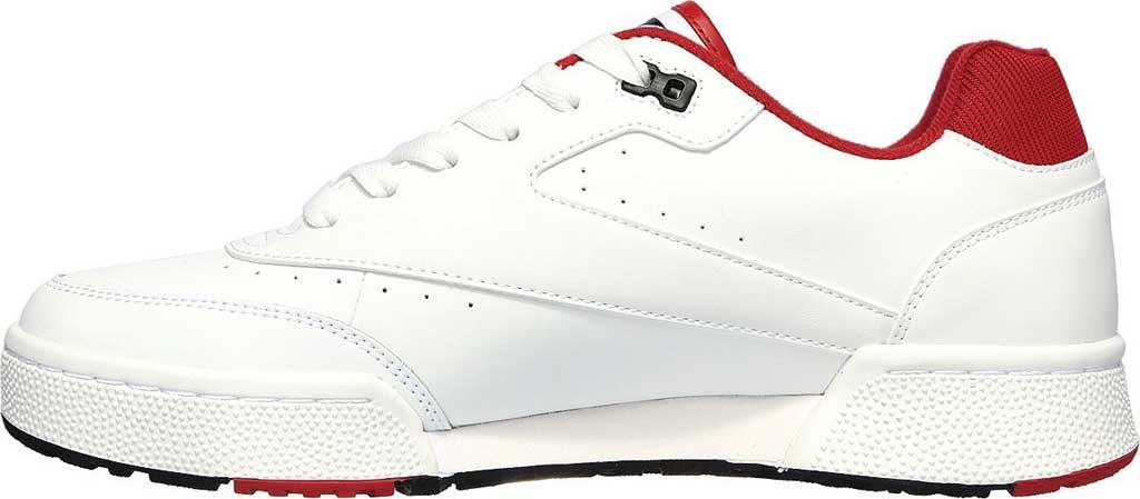 Men's Skechers Court Striker Sneaker, White/Red, large, image 3