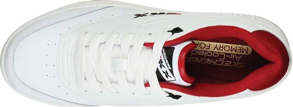 Men's Skechers Court Striker Sneaker, White/Red, large, image 4