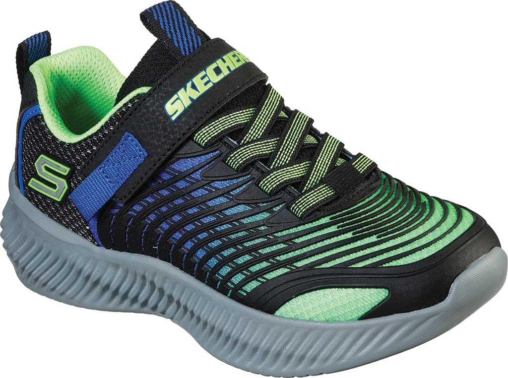 Boys' Skechers Optico Sneaker, Lime/Blue, large, image 1