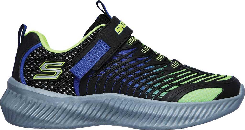 Boys' Skechers Optico Sneaker, Lime/Blue, large, image 2