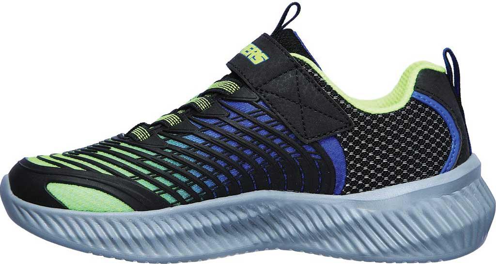 Boys' Skechers Optico Sneaker, Lime/Blue, large, image 3