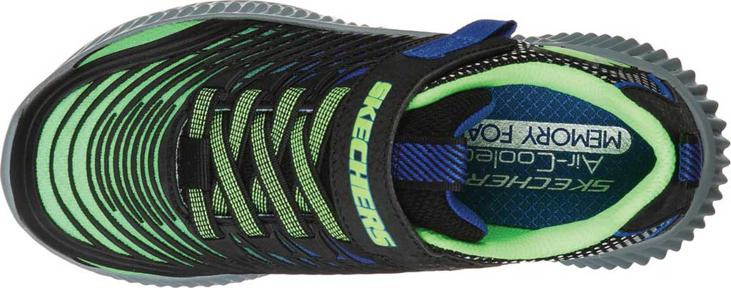 Boys' Skechers Optico Sneaker, Lime/Blue, large, image 4