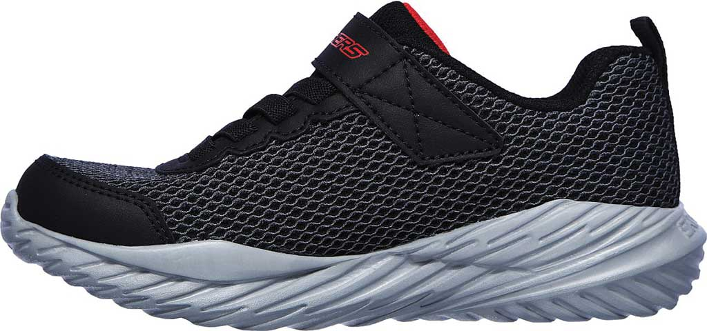 Boys' Skechers Nitro Sprint Krodon Sneaker, Black/Grey/Red, large, image 3