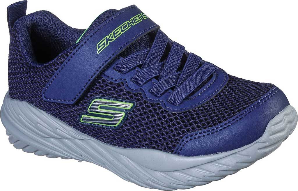 Boys' Skechers Nitro Sprint Krodon Sneaker, Navy/Lime, large, image 1