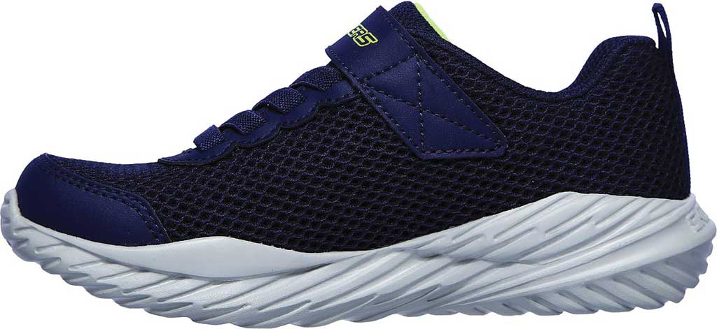 Boys' Skechers Nitro Sprint Krodon Sneaker, Navy/Lime, large, image 3
