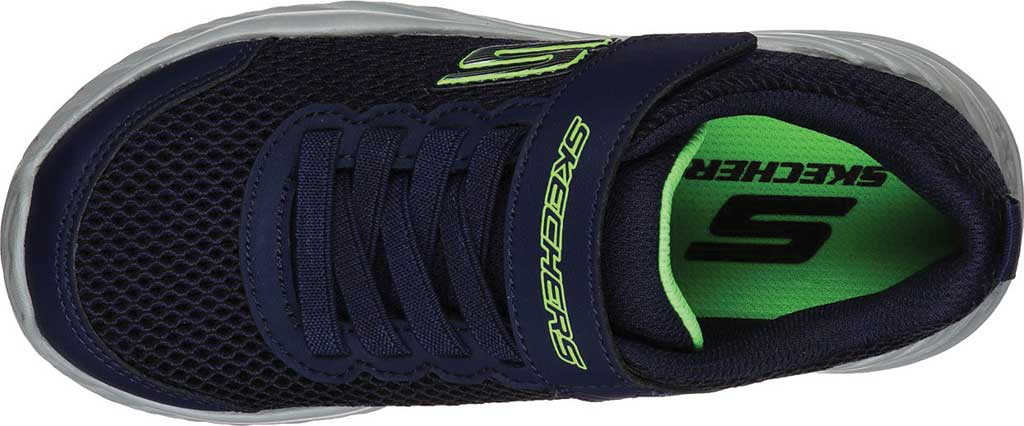 Boys' Skechers Nitro Sprint Krodon Sneaker, Navy/Lime, large, image 4