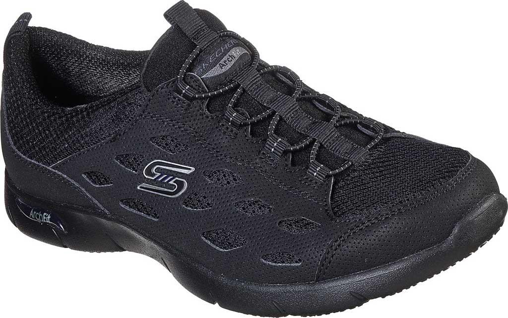 Women's Skechers Arch Fit Refine Sneaker, Black/Black, large, image 1