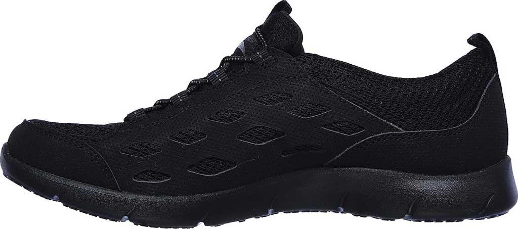Women's Skechers Arch Fit Refine Sneaker, Black/Black, large, image 3