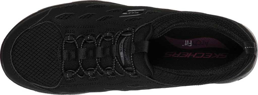 Women's Skechers Arch Fit Refine Sneaker, Black/Black, large, image 4