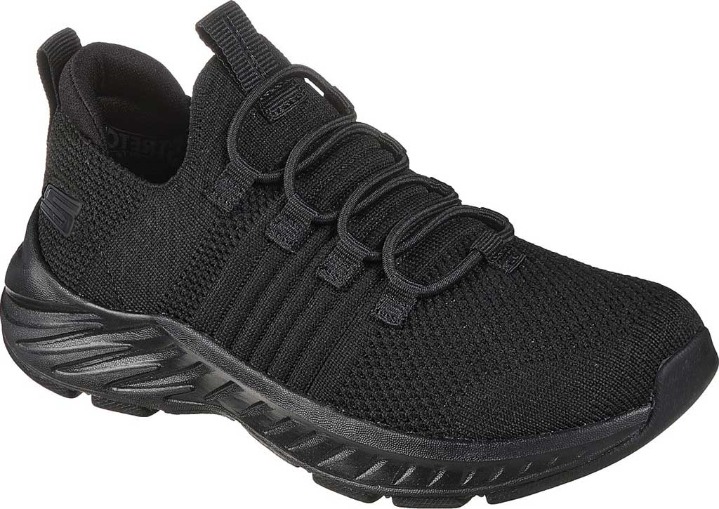 Boys' Skechers Elite Rush Sneaker, Black/Black, large, image 1