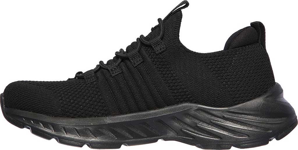 Boys' Skechers Elite Rush Sneaker, Black/Black, large, image 3