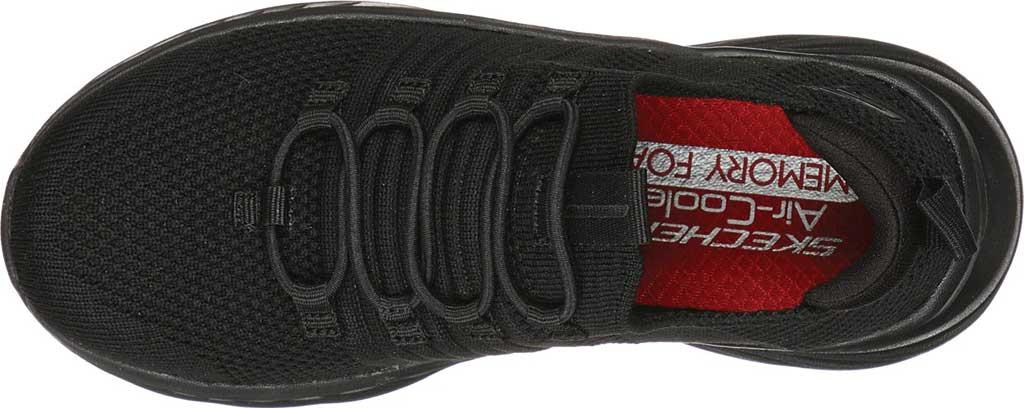 Boys' Skechers Elite Rush Sneaker, Black/Black, large, image 4