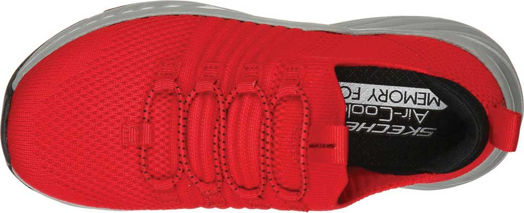 Boys' Skechers Elite Rush Sneaker, Red/Black, large, image 4