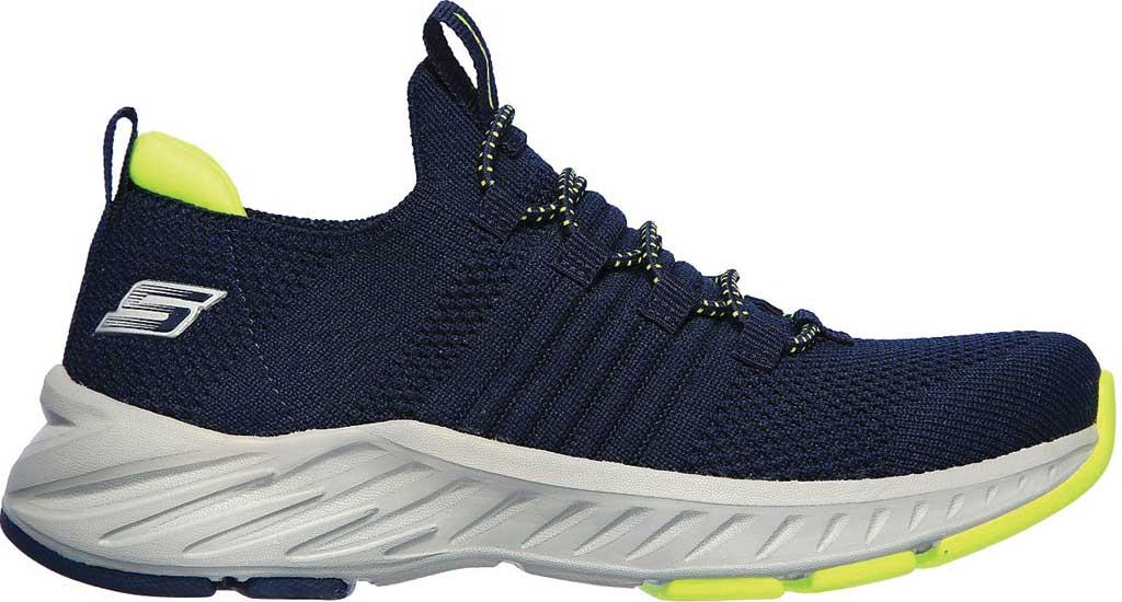 Boys' Skechers Elite Rush Sneaker, Navy/Lime, large, image 2