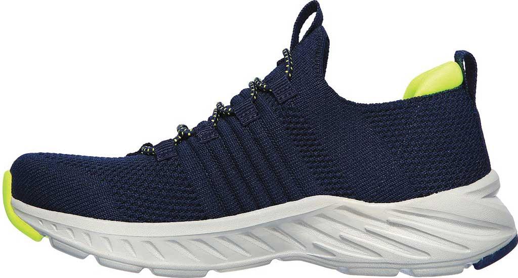 Boys' Skechers Elite Rush Sneaker, Navy/Lime, large, image 3