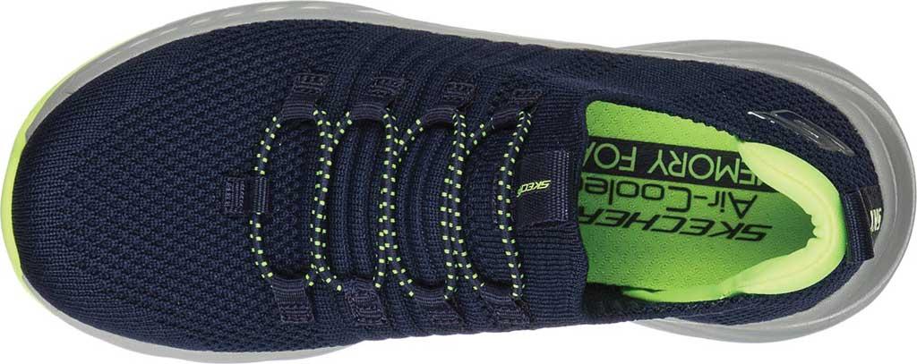 Boys' Skechers Elite Rush Sneaker, Navy/Lime, large, image 4