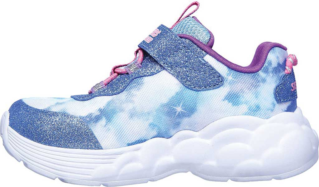 Infant Girls' Skechers S Lights Rainbow Racer Sneaker, Blue, large, image 3