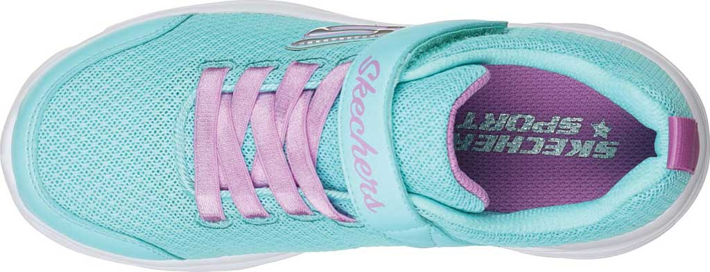 Girls' Skechers Dreamy Dancer Miss Minimalistic Sneaker, Aqua/Purple, large, image 4