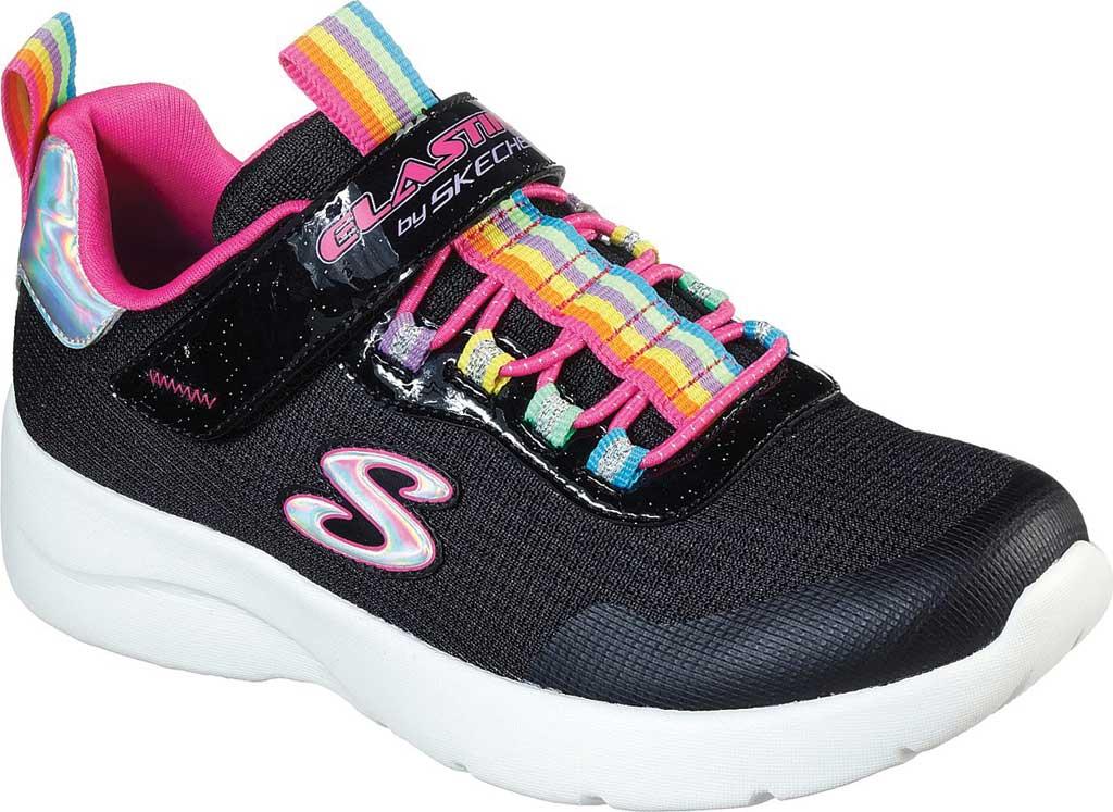 Girls' Skechers Dynamight 2.0 Rockin' Rainbow Sneaker, Black/Multi, large, image 1