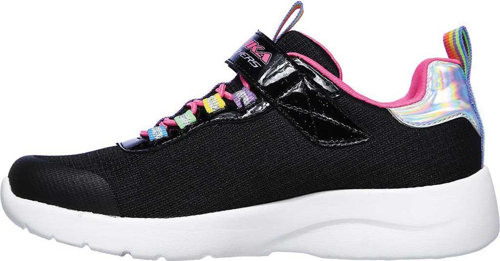 Girls' Skechers Dynamight 2.0 Rockin' Rainbow Sneaker, Black/Multi, large, image 3