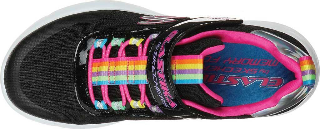 Girls' Skechers Dynamight 2.0 Rockin' Rainbow Sneaker, Black/Multi, large, image 4