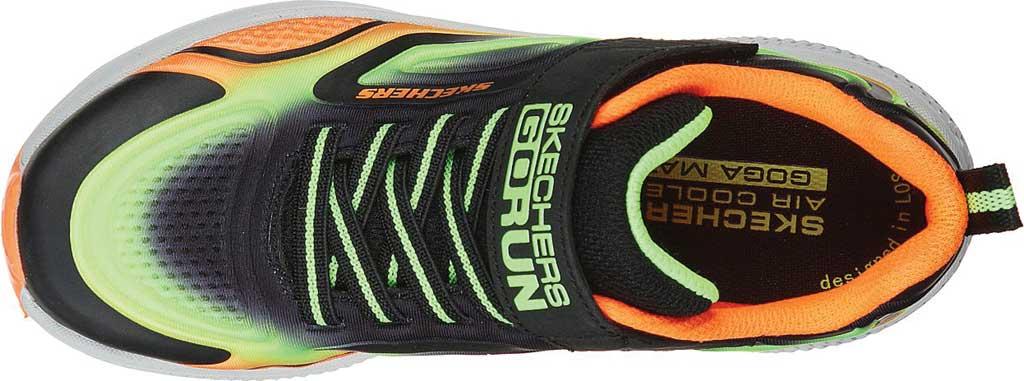 Boys' Skechers GOrun Consistent Surge Sonic Sneaker, Black/Lime, large, image 4