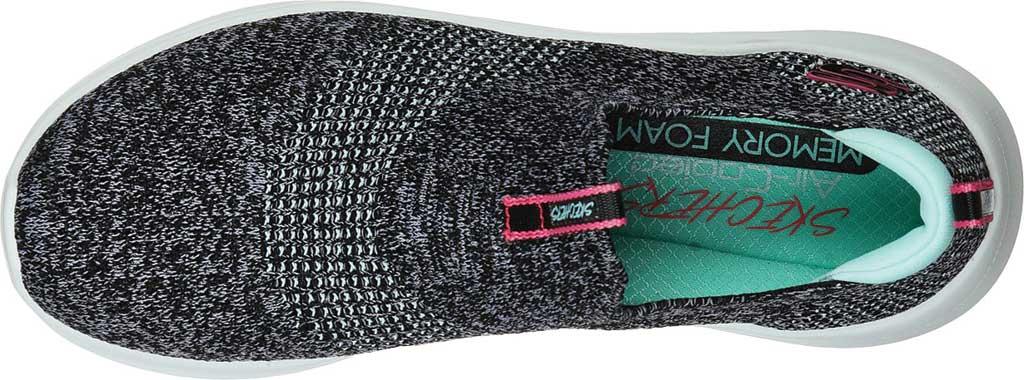 Women's Skechers Ultra Flex 2.0 Pretty Dazzling Slip-On, Black/White, large, image 4