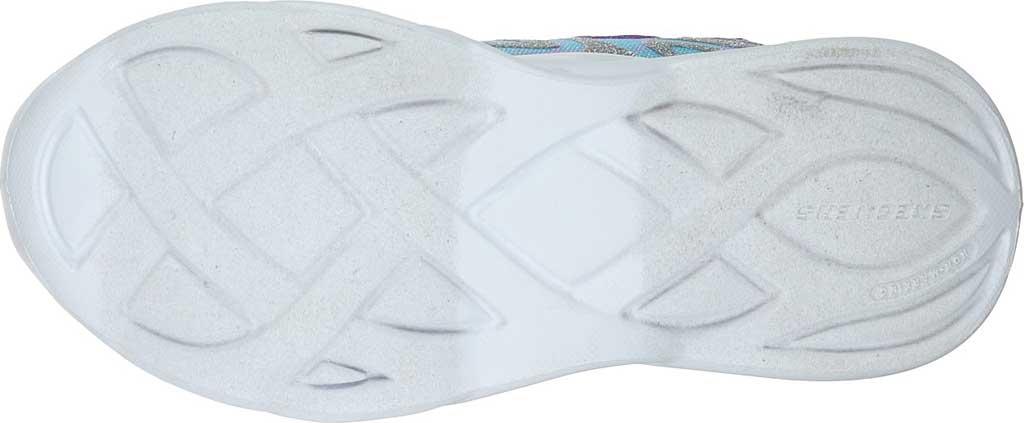 Girls' Skechers S Lights Twisty Brights Dazzle Flash Sneaker, Silver/Multi, large, image 5