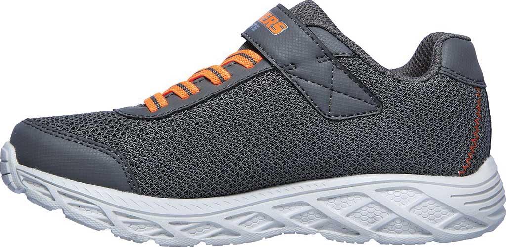 Boys' Skechers S Lights Dynamic-Flash Sneaker, Charcoal/Orange, large, image 3