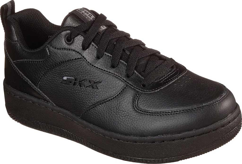 Women's Skechers Sport Court 92 Sneaker, Black/Black, large, image 1