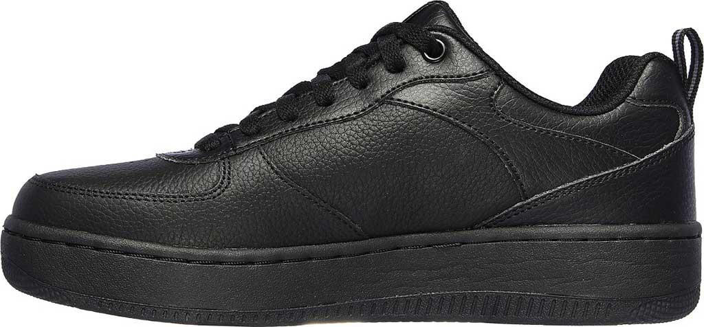 Women's Skechers Sport Court 92 Sneaker, Black/Black, large, image 3