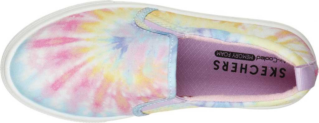 Girls' Skechers Poppy Hippie Hype Sneaker, White/Multi, large, image 4