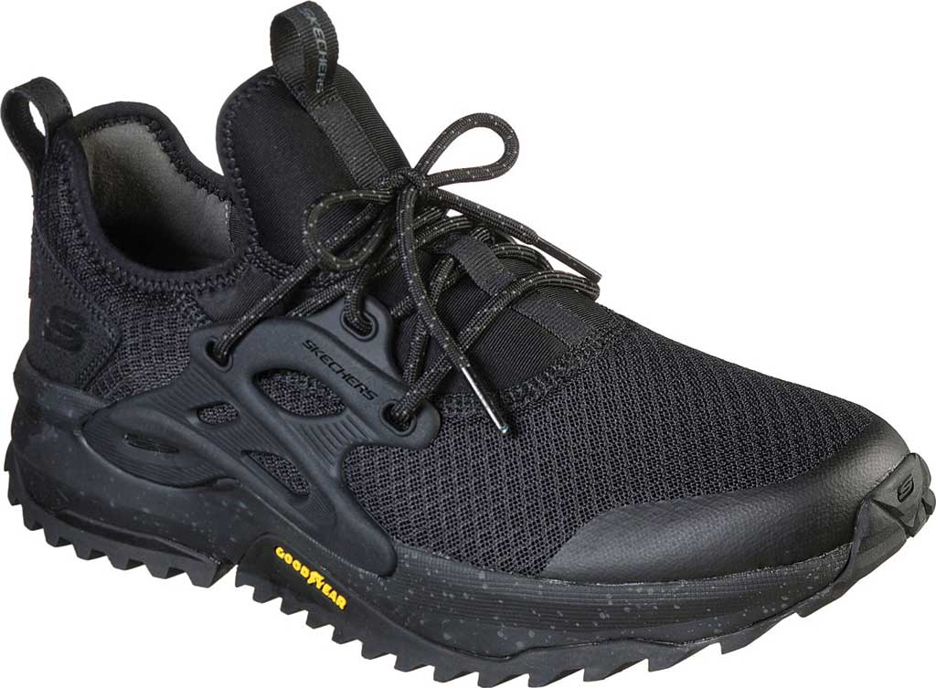Men's Skechers Bionic Trail Sneaker, Black/Black, large, image 1