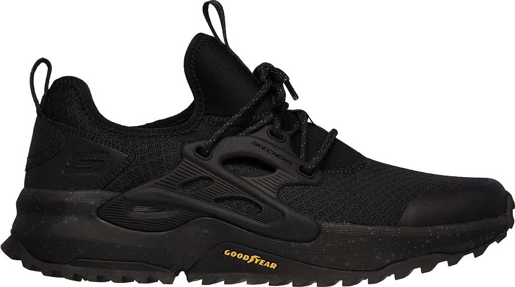 Men's Skechers Bionic Trail Sneaker, Black/Black, large, image 2
