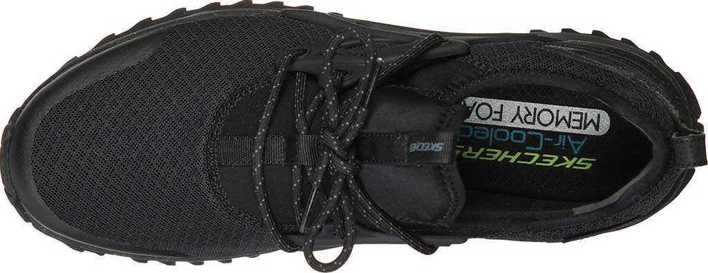 Men's Skechers Bionic Trail Sneaker, Black/Black, large, image 3