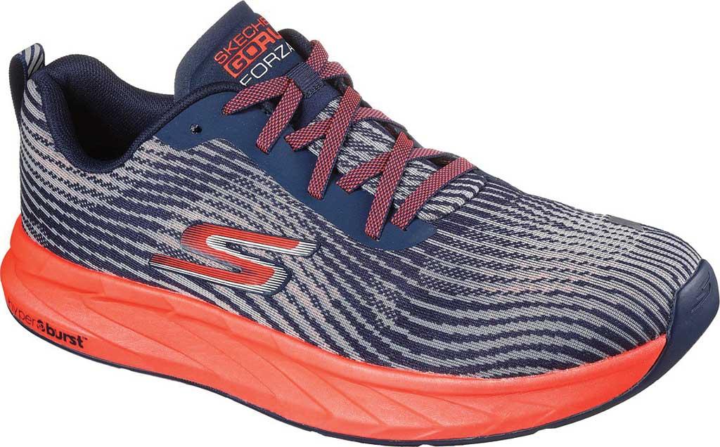 Men's Skechers GOrun Forza 4 Hyper Sneaker, Navy/Coral, large, image 1
