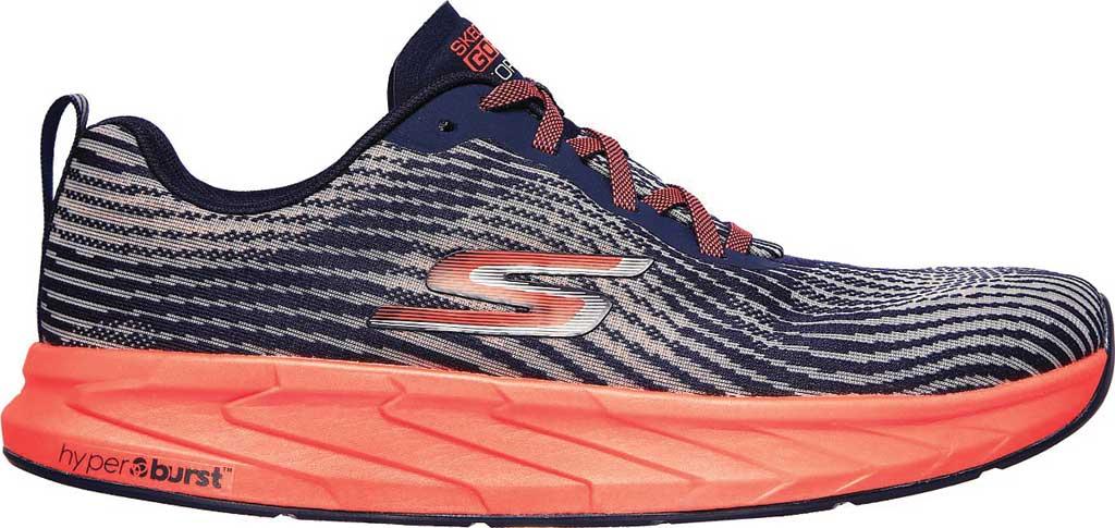 Men's Skechers GOrun Forza 4 Hyper Sneaker, Navy/Coral, large, image 2