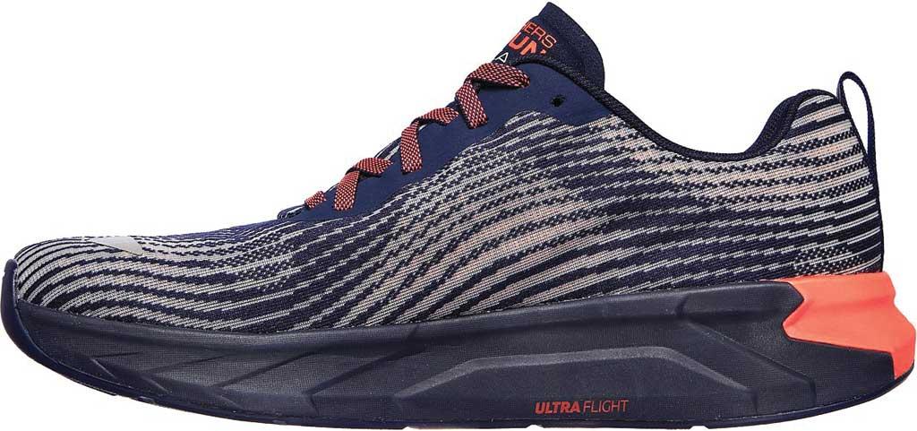 Men's Skechers GOrun Forza 4 Hyper Sneaker, Navy/Coral, large, image 3