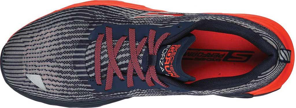 Men's Skechers GOrun Forza 4 Hyper Sneaker, Navy/Coral, large, image 4