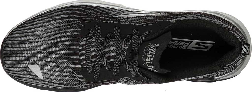 Men's Skechers GOrun Forza 4 Hyper Sneaker, Black/Gray, large, image 4