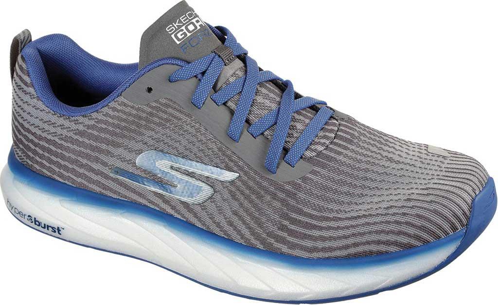 Men's Skechers GOrun Forza 4 Hyper Sneaker, Gray/Blue, large, image 1