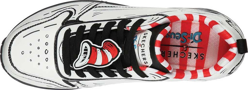 Women's Skechers Dr. Seuss Uno Tip Of His Hat Sneaker, White/Black, large, image 4