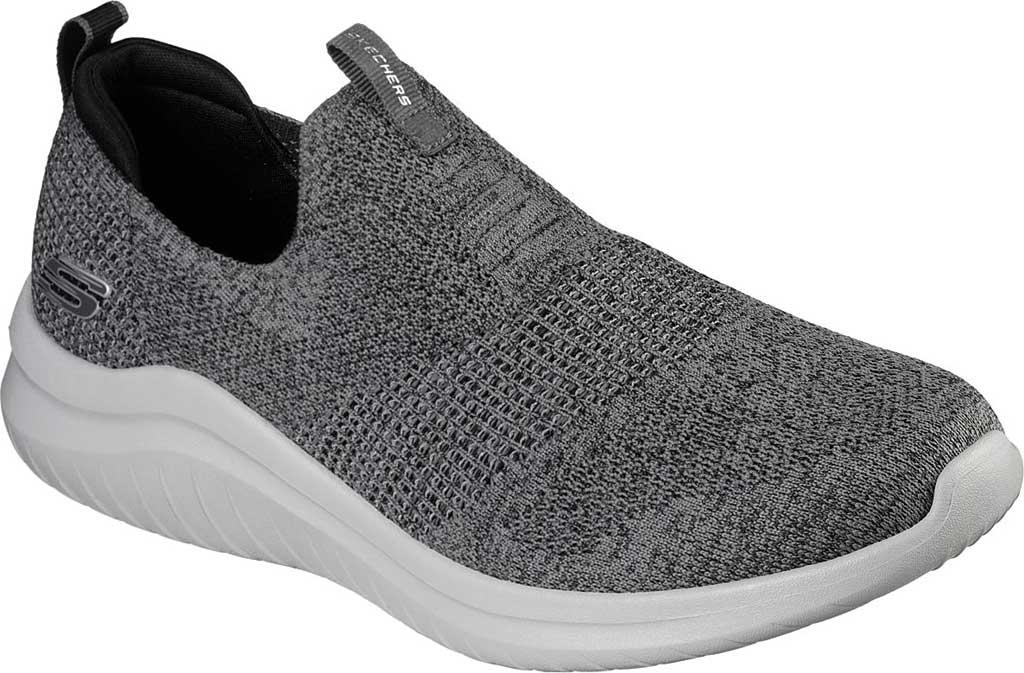Men's Skechers Ultra Flex 2.0 Mirkon Slip-On, Charcoal/Black, large, image 1