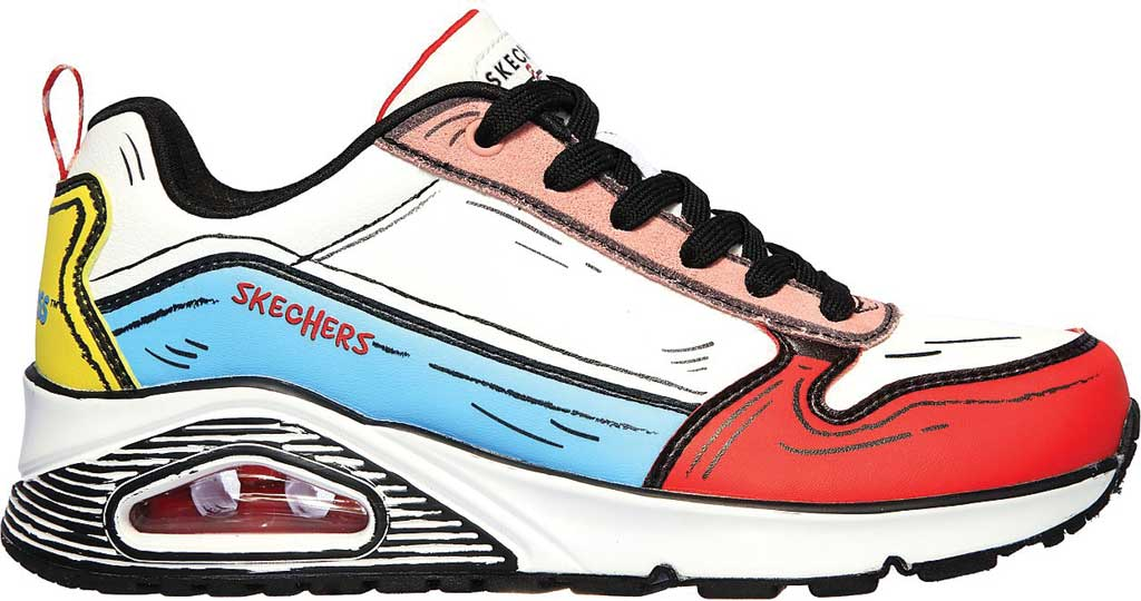 Women's Skechers Dr. Seuss Uno Jumps and Kicks Sneaker, White/Multi, large, image 2