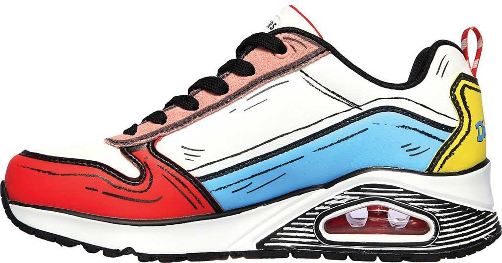 Women's Skechers Dr. Seuss Uno Jumps and Kicks Sneaker, White/Multi, large, image 3