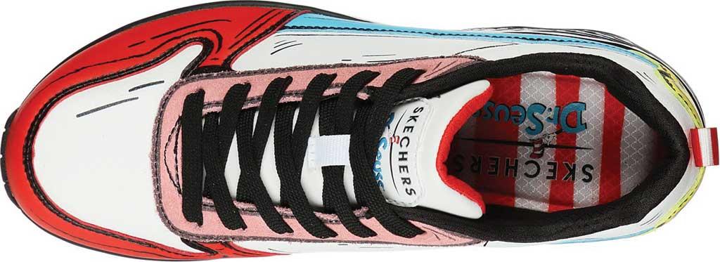 Women's Skechers Dr. Seuss Uno Jumps and Kicks Sneaker, White/Multi, large, image 4